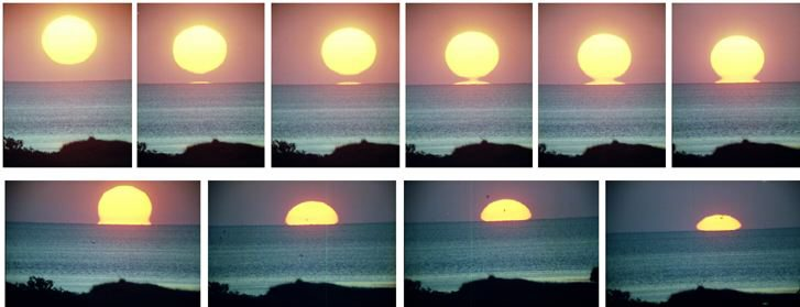Sunset composite photo
