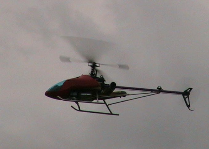 RC Turbine Helicopter in flight